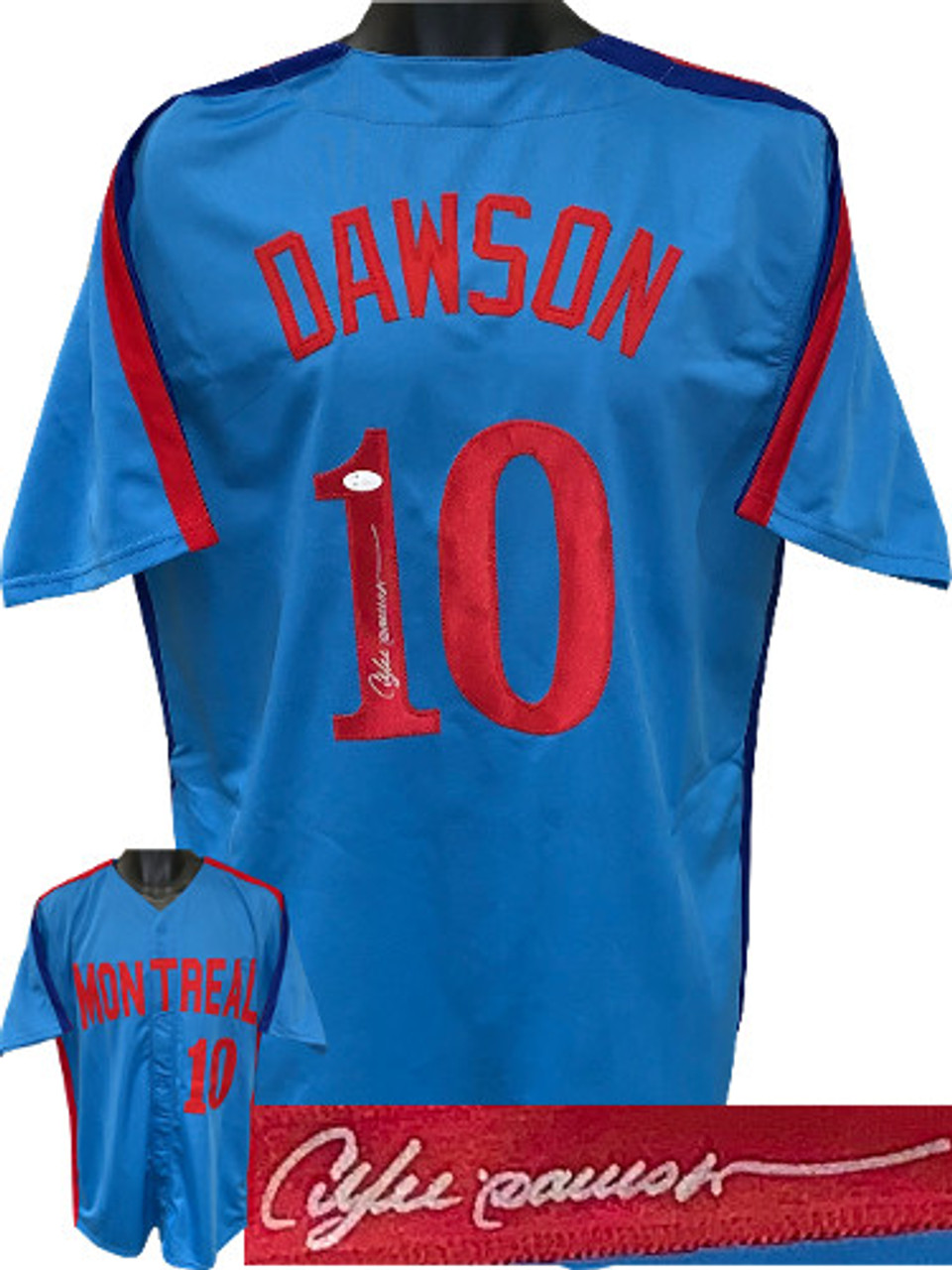 size 40 1c797 a664e Andre Dawson Chicago Cubs Autographed Blue Throw Back Custom Stitched Pro  Baseball Jersey XL - JSA Witnessed Hologram