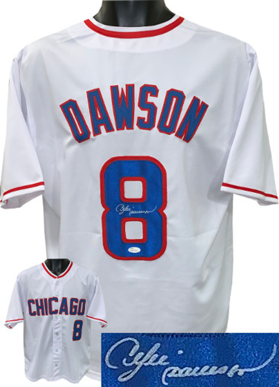 various colors 023cb 326e2 Andre Dawson Chicago Cubs Autographed White Throwback Custom Stitched Pro  Baseball Jersey XL - JSA Witnessed Hologram