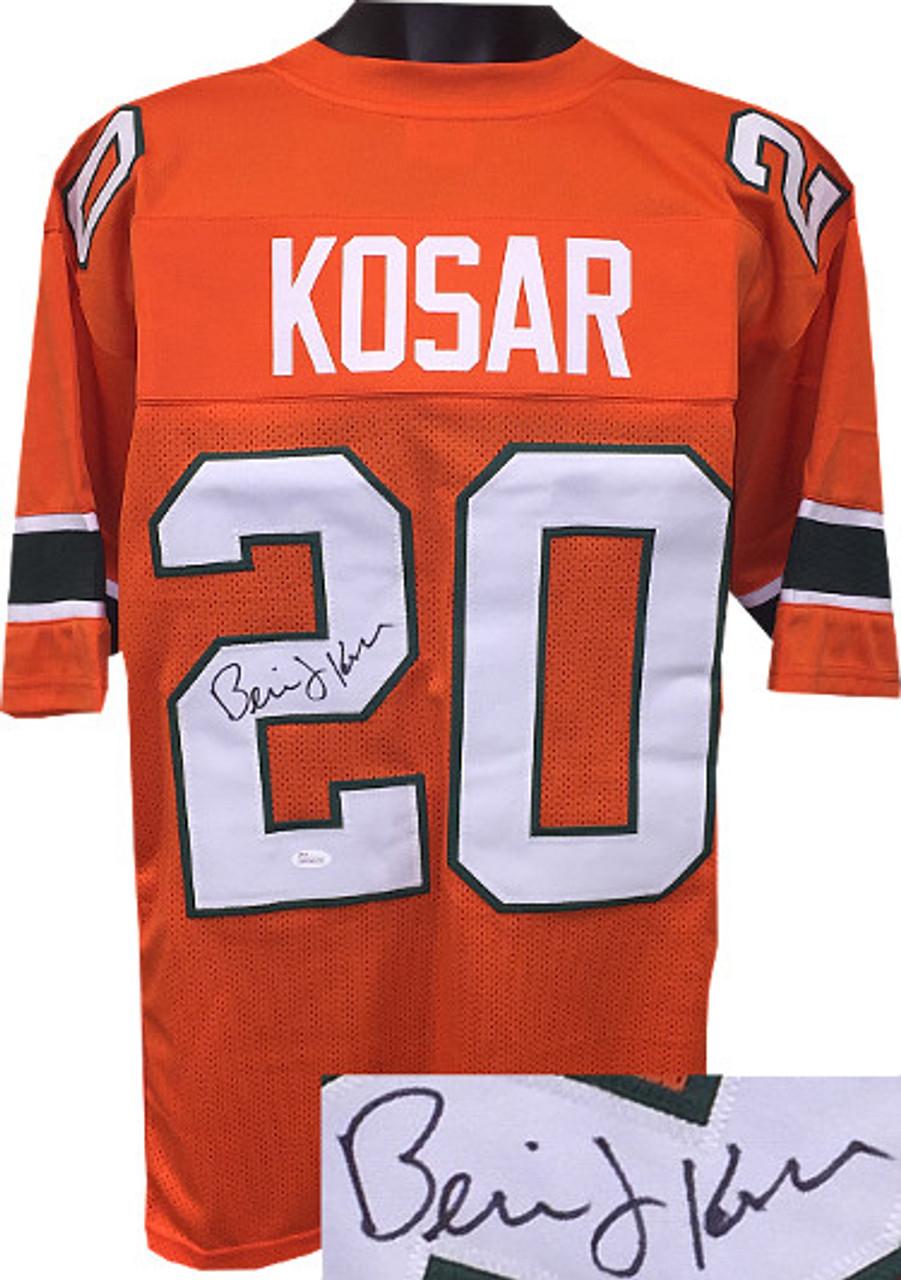 half off 039f4 2642d Bernie Kosar Miami Hurricanes Autographeded Orange Throwback Custom  Stitched College Football Jersey XL - JSA Witnessed Hologram