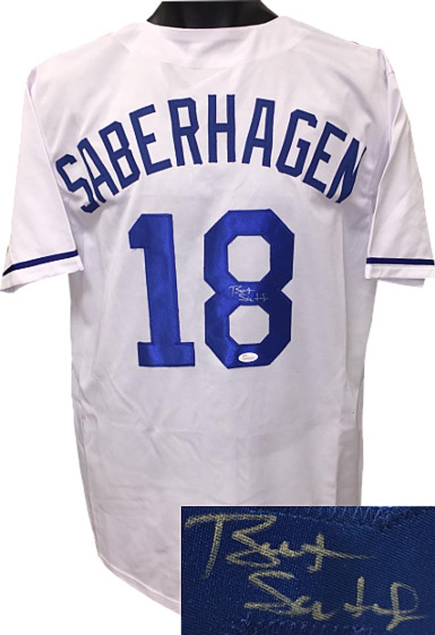 huge discount ad37a cca5c Bret Saberhagen Kansas City Royals Autographeded White Throwback Custom  Stitched Pro Jersey XL - JSA Hologram