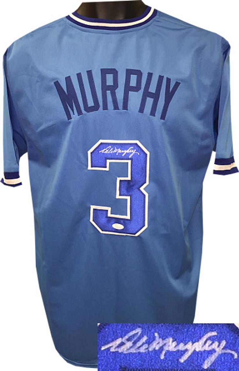 new styles ad3fe 21de9 Dale Murphy Atlanta Braves Autographed Light Blue Throwback Custom Stitched  Jersey XL - JSA Witnessed Hologram