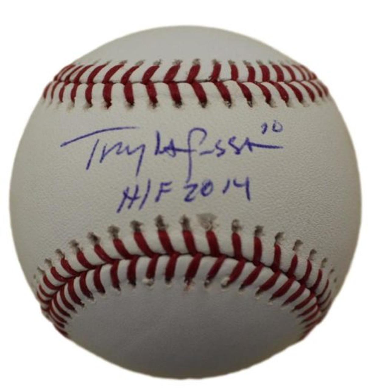 Tony Larussa Autographed St Louis Cardinals Oml Baseball Hof Jsa