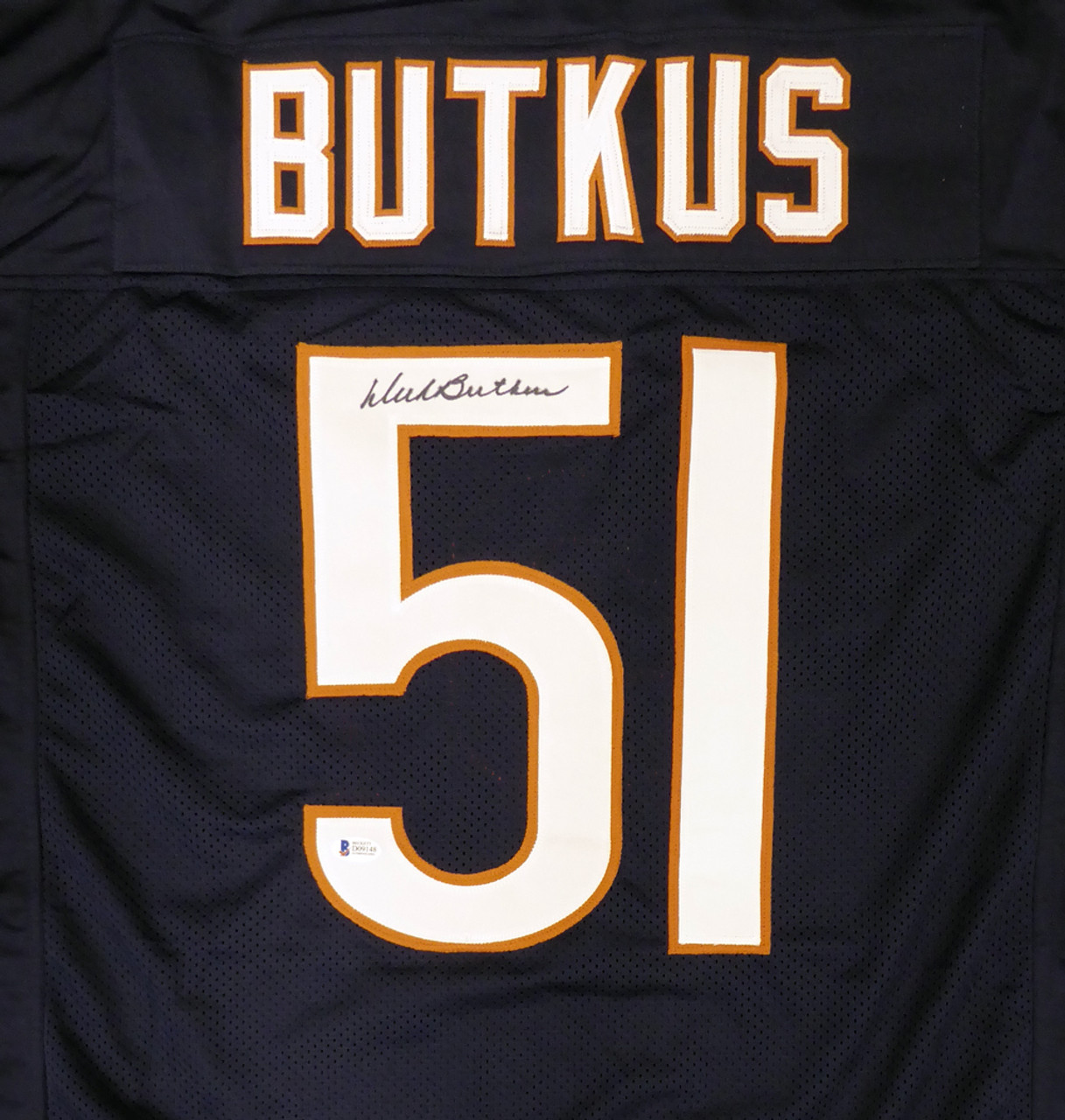 Dick Butkus Autographed Jersey - Chicago Bears Blue Custom Beckett BAS