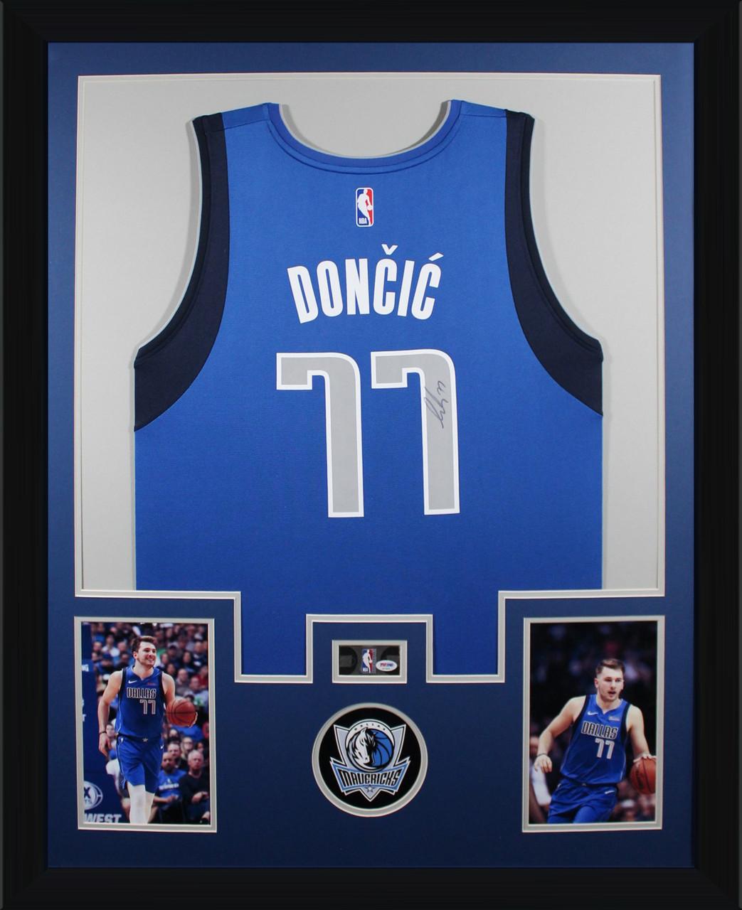 Luka Doncic Autographed Framed Jersey Dallas Mavericks Signed Fanatics Basketball Psa Dna Coa