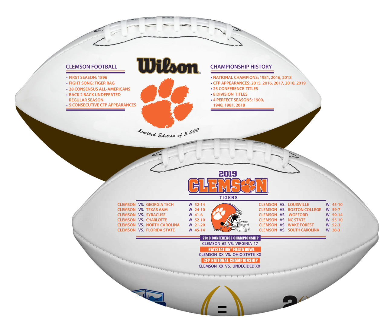 Champions Rawlings 2019-2020 Official NCAA College National Championship Football Full Size LSU