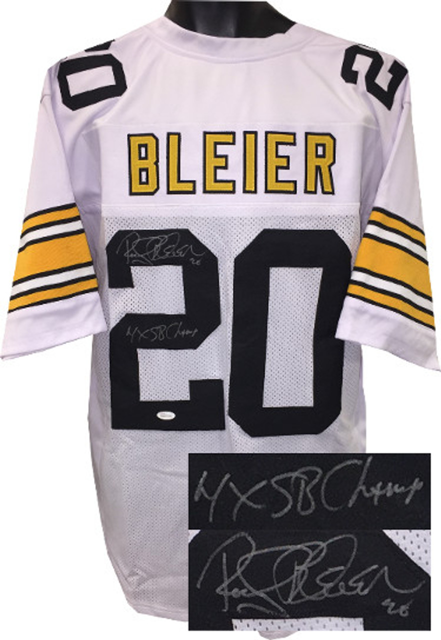 Rocky Bleier Autographed Jersey - White TB Custom Stitched Pro Style Pittsburgh Football Jersey #20 4X SB Champs - JSA Witnessed Hologram