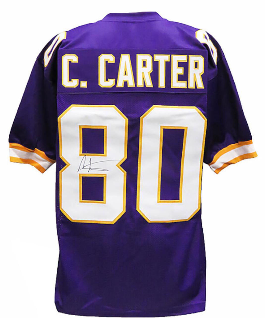 Cris Carter Minnesota Vikings Autographed Purple Throwback Custom Football Jersey