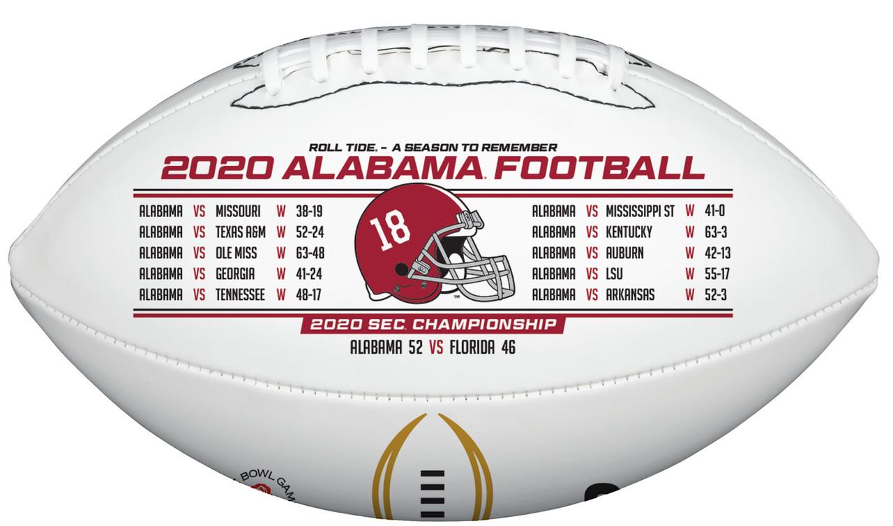 Rawlings Official 2020-2021 Alabama NCAA National Champions Commemorative Football
