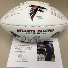 9114af6a43f Matt Ryan Autographed NFC Championship Football - a Nikco Sports Exclusive