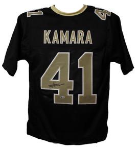98dfd3b4bd2 Alvin Kamara Autographed New Orleans Saints XL Black Jersey BAS Certified