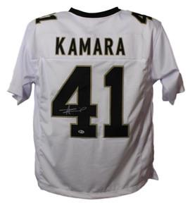 4c459ded274 Alvin Kamara Autographed New Orleans Saints XL White Jersey BAS Certified