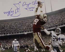 61414a699b9 Dwight Clark Autographed San Francisco 49ers 16x20 Photo Horizontal Play BAS