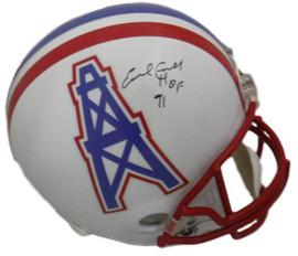a9d01e6e Earl Campbell Autographed Houston Oilers Full Size Replica Helmet HOF (in  Black) JSA