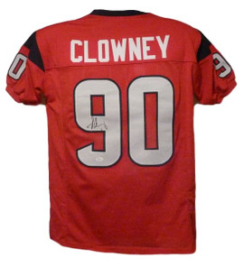 Jadeveon Clowney Autographed Houston Texans red size XL jersey JSA 88236ecbf