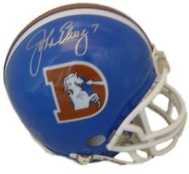 ec85b1ee79d John Elway Autographed Denver Broncos Riddell D Logo Mini Helmet (N O) JSA