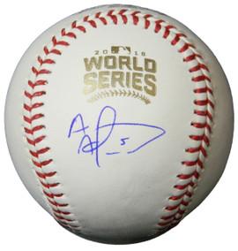 d35e1d733 Albert Almora Jr. Signed Rawlings 2016 World Series Baseball