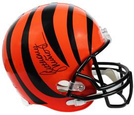 cadf069865f Anthony Munoz Signed Cincinnati Bengals Riddell Full Size Replica Helmet