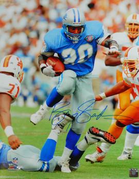 f4877d3e3c7 Barry Sanders Signed Detroit Lions Action vs Bucs 16x20 Photo