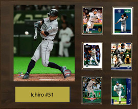 76060b9689 Ichiro Suzuki, Seattle Mariners, 16x20 Plaque - 8x10 Action photo and 6  baseball cards