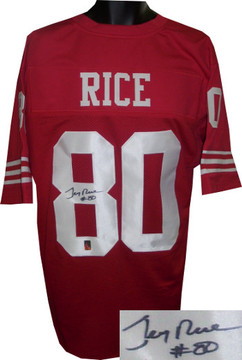 huge selection of 6385c 73cee Jerry Rice signed San Francisco 49ers White Custom Stitched ...