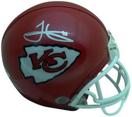 JSA W Auth White Tyreek Hill Autographed Kansas City Chiefs Flat Black Mini Helmet