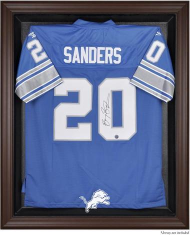 Brown Framed Lions Jersey Display Case