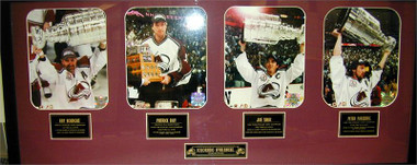 Colorado Avalanche 2001 Super Stars Framed Photos Featuring Patrick Roy, Joe Sakic, Ray Bourque & Peter Forsberg