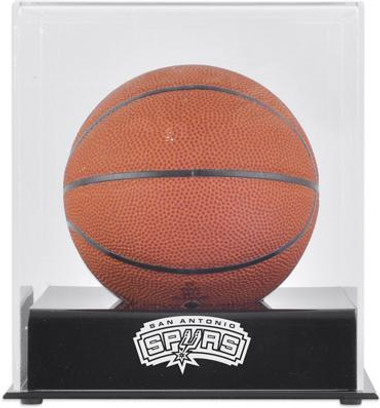 San Antonio Spurs Mini Basketball Display Case