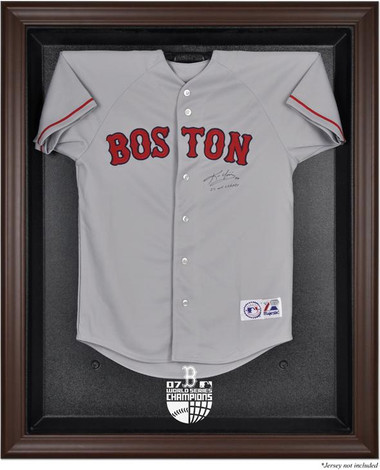 Brown Framed 2007 Red Sox World Series Champs Jersey Display Case