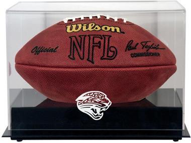 Black Base Football Jaguars Display Case