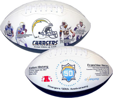 San Diego Chargers 50th Anniversary Football