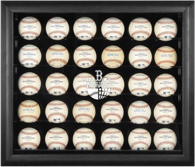 Black Framed MLB 30-Ball 2007 Red Sox World Series Champs Display Case