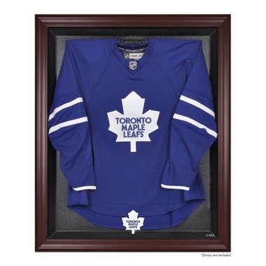 Mahogany Framed Jersey Toronto Maple Leafs Display Case