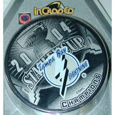 Tampa Bay Lightning Stanley Cup Champs 2004 Hockey Puck