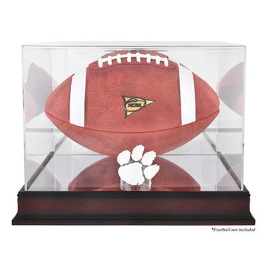 Clemson Tigers Mahogany Football Case