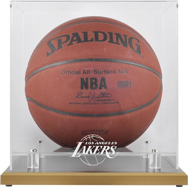 Los Angeles Lakers Woodbase Basketball Display Case
