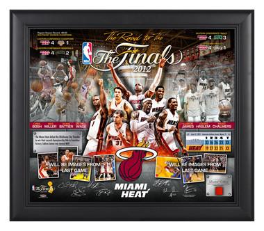 Miami Heat 2012 NBA Championship Plaque - Road to the Finals