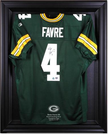 Brett Favre Record-Breaker Black Framed Jersey Display Case