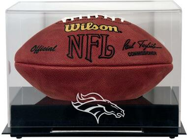 Black Base Football Broncos Display Case