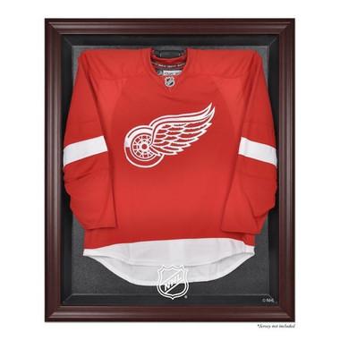 Mahogany Framed Jersey  NHL Logo Display Case