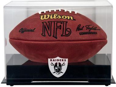 Black Base Football Raiders Display Case