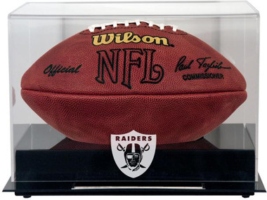 Black Base Football Raiders Display Case