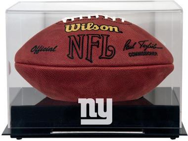 Black Base Football Giants Display Case