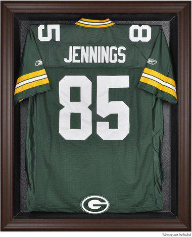 Brown Framed Packers Jersey Display Case