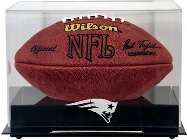 Black Base Football Patriots Display Case