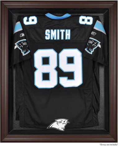 Brown Framed Panthers Jersey Display Case