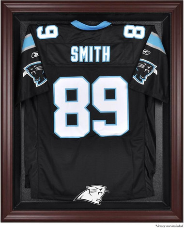 Mahogany Framed Panthers Jersey Display Case