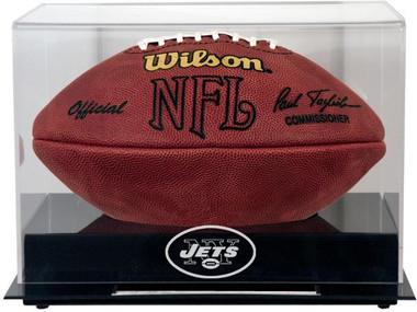 Black Base Football Jets Display Case