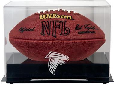 Black Base Football Falcons Display Case