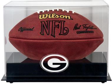 Black Base Football Packers Display Case